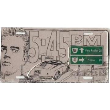 James Dean 5:45 PM Metal License Plate