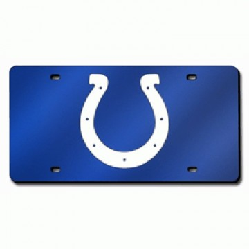 Indianapolis Colts Blue Laser License Plate