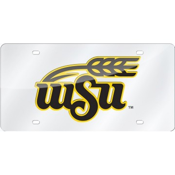 Wichita State Shockers Silver Laser License Plate