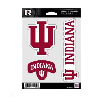 Indiana Hoosiers Triple Spirit Stickers