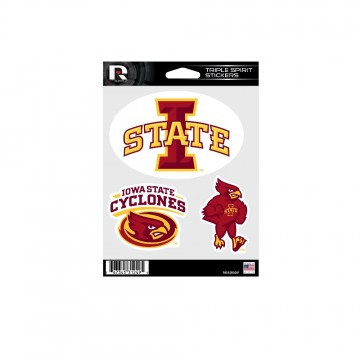 Iowa State Cyclones Triple Spirit Stickers