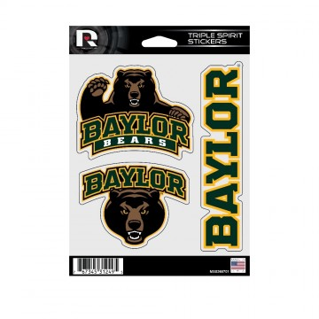 Baylor Bears Triple Spirit Stickers