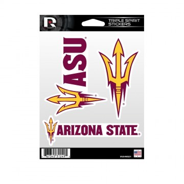 Arizona State Sun Devils Triple Spirit Stickers