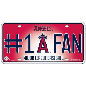 Los Angeles Angels #1 Fan Metal License Plate