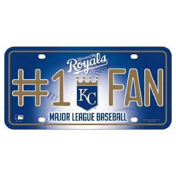 Kansas City Royals #1 Fan Metal License Plate