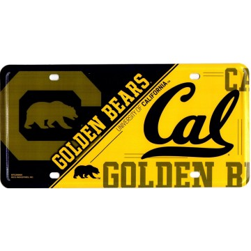 California Golden Bears Metal License Plate