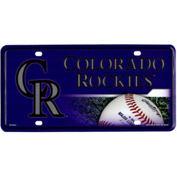 Colorado Rockies Metal License Plate