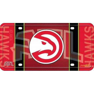 Atlanta Hawks Metal License Plate