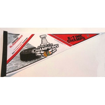 Chicago Blackhawks NHL Stanley Cup 6X Champs 2015 Pennant
