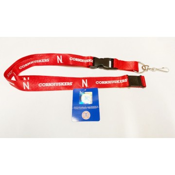 Nebraska Cornhuskers Red Lanyard With Safety Latch