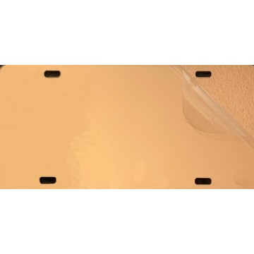 Rose Gold Acrylic Mirror License Plate