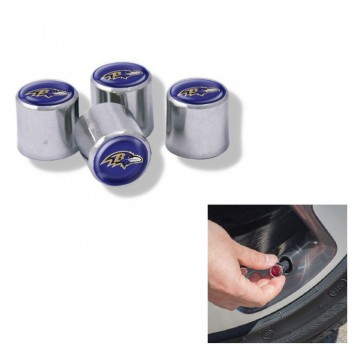 Baltimore Ravens Chrome Valve Stem Caps
