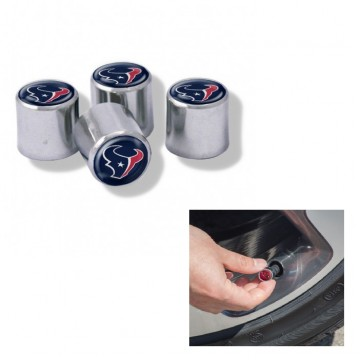 Houston Texans Chrome Valve Stem Caps
