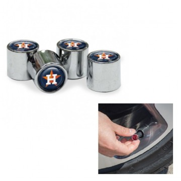 Houston Astros Chrome Valve Stem Caps