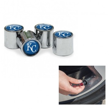 Kansas City Royals Chrome Valve Stem Caps