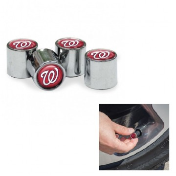 Washington Nationals Chrome Valve Stem Caps
