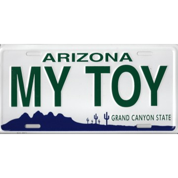 Arizona My Toy Metal License Plate