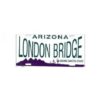 Arizona London Bridge Metal License Plate