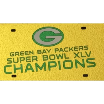 Green Bay Packers 2011 Super Bowl Laser License Plate