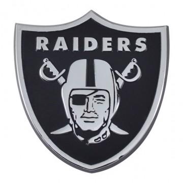 Oakland Raiders 3-D Metal Auto Emblem