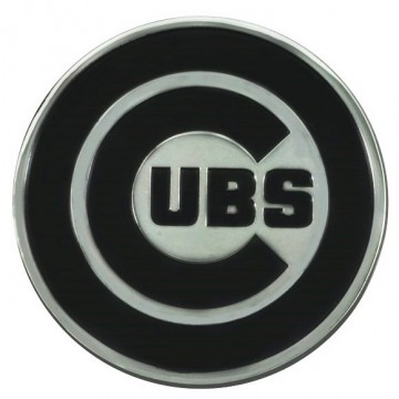 Chicago Cubs 3-D Metal Auto Emblem