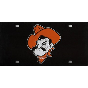 Oklahoma State Cowboy Laser License Plate