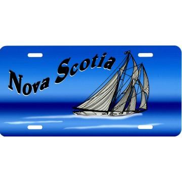 Nova Scotia Boat Airbrush License Plate