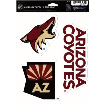 Arizona Coyotes 3 Fan Pack Decals