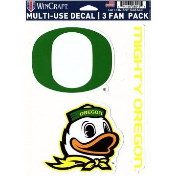 Oregon Ducks 3 Fan Pack Decals