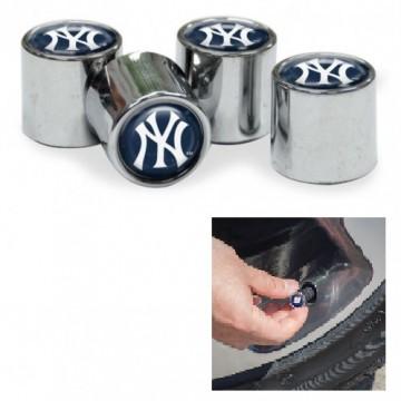 New York Yankees Chrome Valve Stem Caps