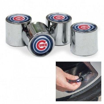 Chicago Cubs Chrome Valve Stem Caps