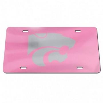 Kansas State Wildcats Pink Laser License Plate