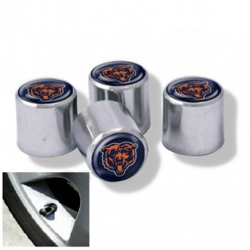 Chicago Bears Chrome Valve Stem Caps