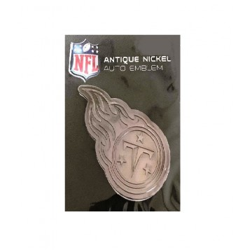 Tennessee Titans Antique Nickel Auto Emblem