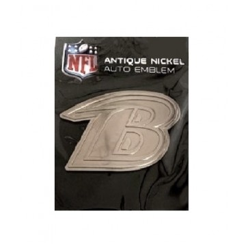 Baltimore Ravens Antique Nickel Auto Emblem