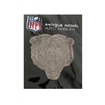 Chicago Bears Antique Nickel Auto Emblem