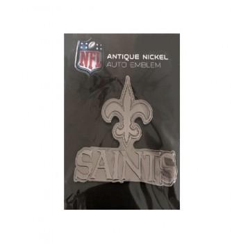 New Orleans Saints Antique Nickel Auto Emblem