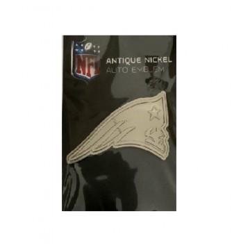 New England Patriots Antique Nickel Auto Emblem