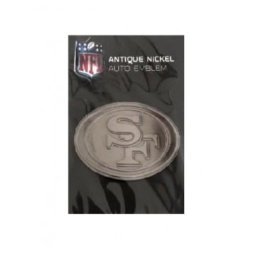 San Francisco 49ers Antique Nickel Auto Emblem