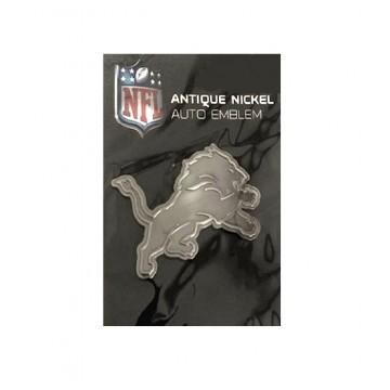 Detroit Lions Antique Nickel Auto Emblem