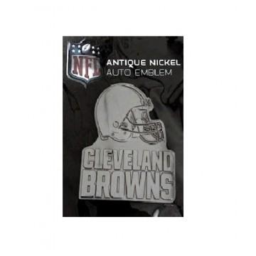 Cleveland Browns Antique Nickel Auto Emblem
