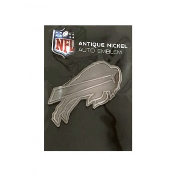 Buffalo Bills Antique Nickel Auto Emblem