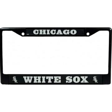 Chicago White Sox Black License Plate Frame