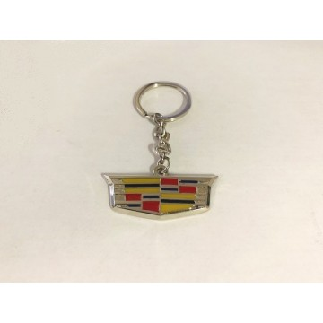 Cadillac Color Logo Metal Key Chain