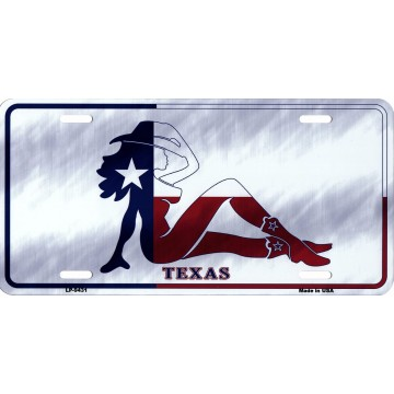 Texas Girl Metal License Plate