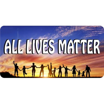 All Lives Matter Photo License Plate