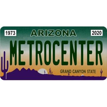 AZ1 MetroCenter In Memoriam Photo License Plate