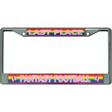 Fantasy Football Last Place Rainbow Chrome License Plate Frame