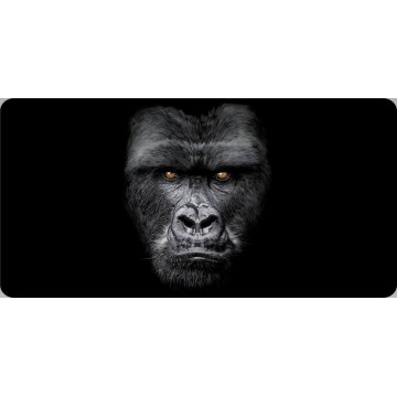 Gorilla Face Centered Photo License Plate