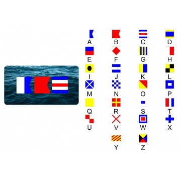 Nautical Ocean Three Flags Photo License Plate